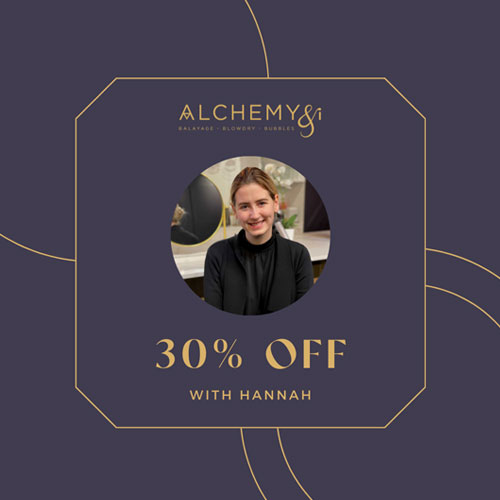 Palmerston North Hair Dresser Alchemy and I October 2021 Offers Image 1